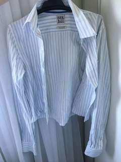 Cropped pinstripe shirt