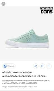 Converse one stars mint US 5 unisex