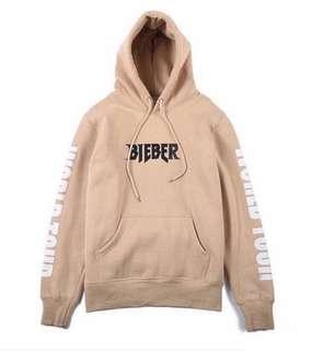 UNISEX Justin Bieber Purpose World Tour Hoodie in Beige