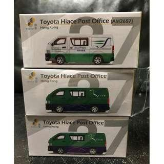 Tiny 微影 27 第1,2,3版 郵政局車 Post Office Toyota Hiace