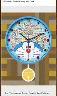Doraemon Swing Clock Toreba