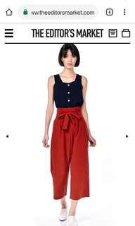 INSTOCKS TEM Nereo pleated waist pants