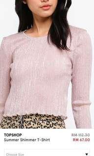 TOPSHOP Shimmer shirt