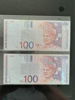 MALAYSIA RM100 8th & 10th Series