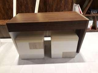 office table and  stools