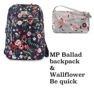 Ju-Ju-Be Midnight Posy Ballad Backpack and Wallflower Be Quick