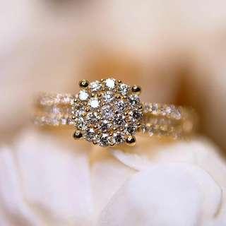 Hong Kong Setting Round Diamond Illusion Ring
