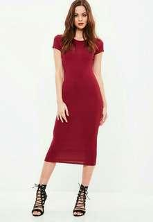 Maroon bodyvon dress