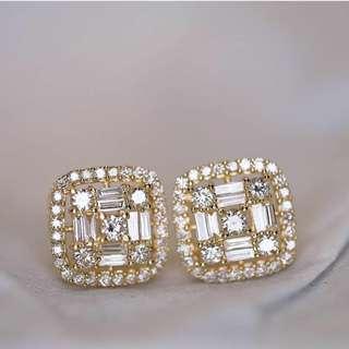 Hong Kong Setting Diamond Earrings