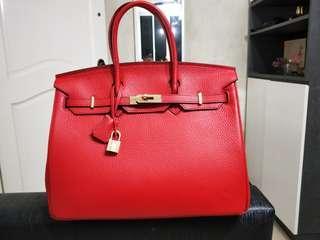 Real Calf Leather Handbag