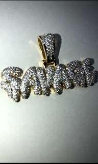 ✅ Icy savage pendant + FREE 24 inch gold rope chain , hip hop jewellery hip hop chain