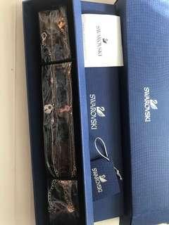 Swarovski key and lock bracelet set (2 x bracelets)