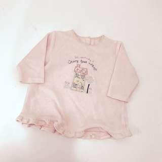 Pink top baby girl 0-3m