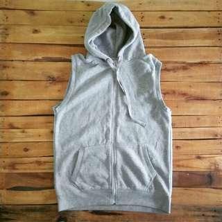 Vest Hoodie Grey
