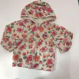 Brums zip up floral jacket 12m