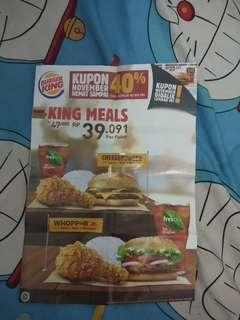 Voucher Burger king desember 2018