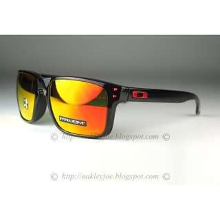 096c2bd8ad BNIB Oakley Holbrook Asian Fit polished black + prizm ruby OO9244-3156 sunglass  shades
