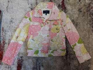 Authentic Burberry multicolor floral print jacket n coat