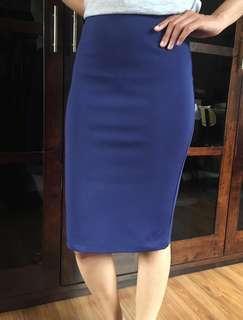 Nichii Royal Blue Bodycon Skirt