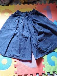 Denim square pants
