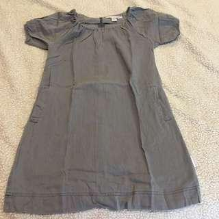 Folded and Hung Long Gray Blouse