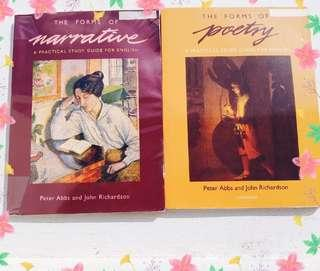 [📌SALE] english & literature textbooks - the forms of poetry & the forms of narrative