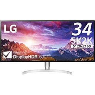 "LG 34WK95U-W 34"" 5120x2160 21:9 UltraWide 5K2K VESA DisplayHDR 600 Nano IPS LED Monitor"