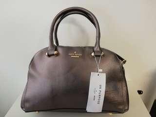 Kate Spade Doctor's Bag Metallic Grey