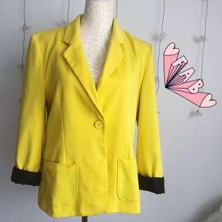 Cotton On Oversized Yellow Blazer