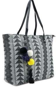Aztac /Bohemian / Handbag / Pompom