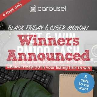 [GIVEAWAY CLOSED] [BLACK FRIDAY x CYBER MONDAY SPECIAL] List & WIN RM100 CASH