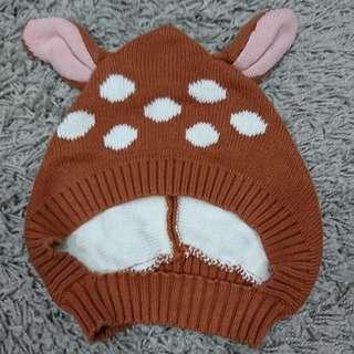 小鹿 麋鹿 毛線帽 針織帽