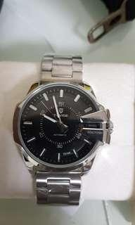 特威斯機械錶(銀鋼錶帶)