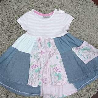 Next 2-3T 拼布 洋裝