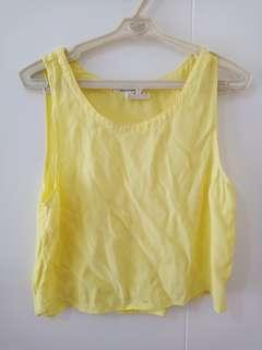 Cotton On Yellow Crop Top