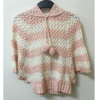粉嫩毛球 針織上衣