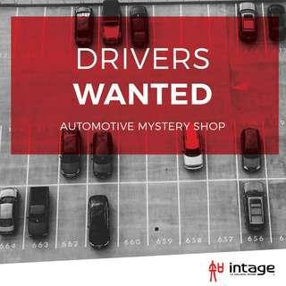 CAR OWNERS/DRIVERS WANTED - $80 MYSTERY SHOP