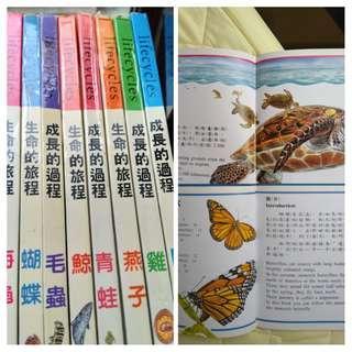 🚚 中英對照童書自然生態版,共八本