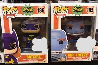 Funko Pop Batgirl and Mr Freeze