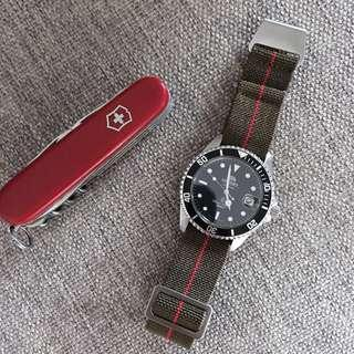 Marine Nationale MN Strap Nato for Tudor Omega Rolex Seiko 20mm