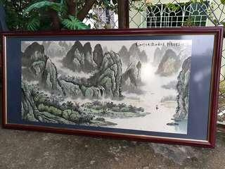 Chinese vintage handpainted san sui art painting big size for feng shui