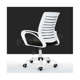 🚚 White Office Chair - Nylon Support