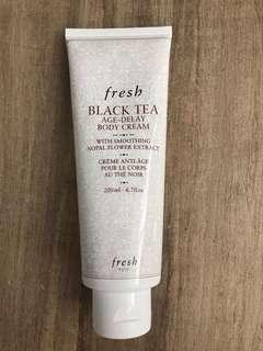 Fresh black tea body cream