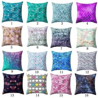 [PO] Gold Bling Fish Scale Cushion Cover