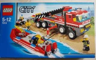 LEGO CITY SET - Offroad Fire Truck & Fire Boat (7213)