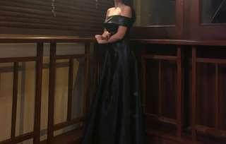 Black Silk Long Gown