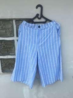 Blue stripe culotte