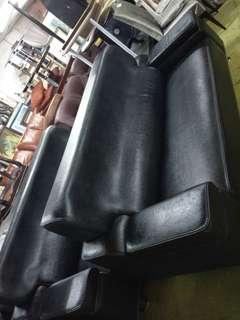 大樹二手厚牛皮3十3高級沙發