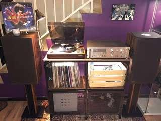 ROTEL Turntable + ROTEL Integrated Amplifier + ROTEL 3-way Speaker
