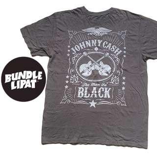JOHNNY CASH THE MAN IN BLACK T SHIRT 2013 SIZE XXL FITS L